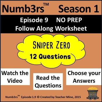 Numb3rs™  Season 1 Episode 9 Sniper Zero Follow-Along Worksheet