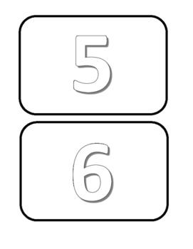 Freebie Numbar Cards 1 - 10 coloring