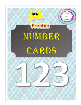 Freebie Numbar Cards 1 - 10 coloring