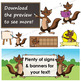 Numbat Clip Art with Signs - Letter N in Alphabet Animal Series