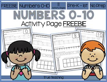 Number 0-10 Activity Pages FREEBIE