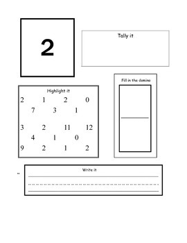 Number 0-10 Math notebook pages