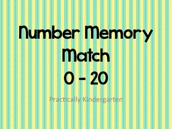 Number 0-20 Memory Match