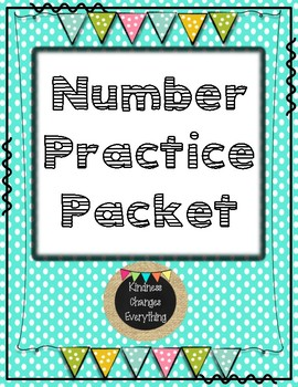 Number 1-20 Practice Packet