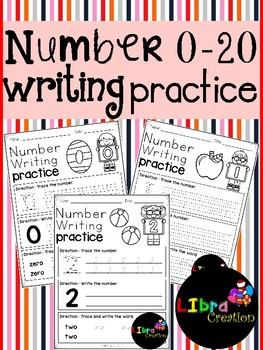 Number 0 - 20 Writing Practice