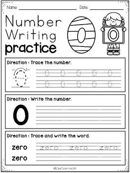 Number 0 - 20 Writing Practice Freebies