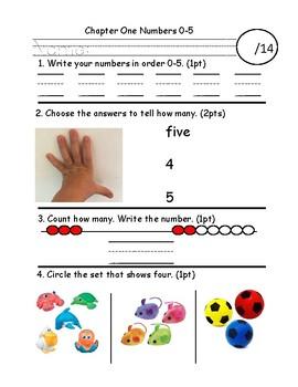 Number 0-5 Assessment