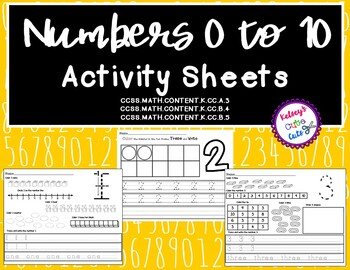 Numbers 0 to 10 No Prep Activity Sheets
