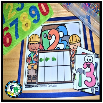 Number 1-10 Activity Center: Build-It