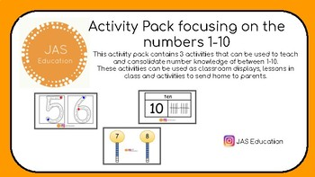 Number 1-10 Activity Pack