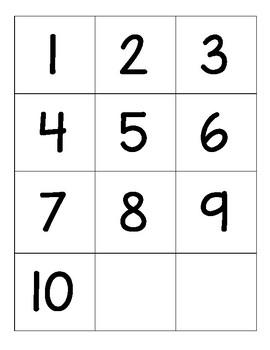 Number 1-10 Game Sampler