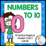 Numbers 1-10 Worksheets and Pocket Chart Cards