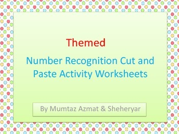 Number 1-10 Recognition Cut & Paste Activity Worksheets wi