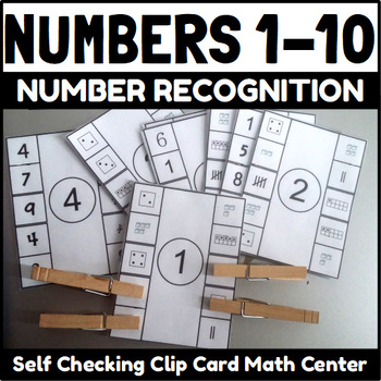 Number 1-10 Self Checking Clip Cards
