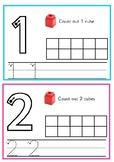 Number 1-10 Unifix Cube Mats