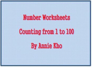 Number 1 - 100 Cards and Worksheets Bundle