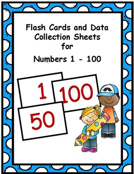 Number 1-100 Flash Cards and Data Sheets