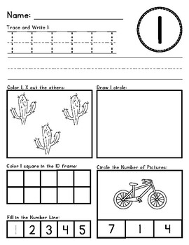 Number 1-20 Activity Sheets
