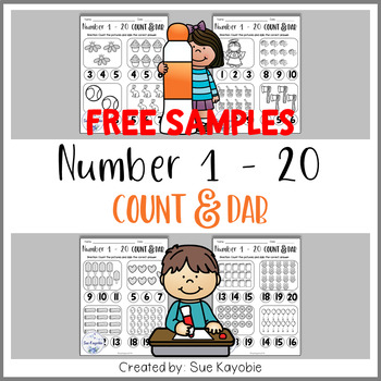 Number 1 - 20 Count & Dab Free Samples
