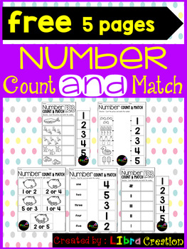 Number 1 - 20 Count & Match Freebies