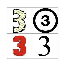 Number 1-20 Flash cards