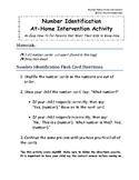 Number 1-20 Flashcard Packet for Parents