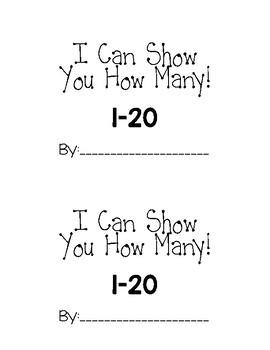 Number 1-20 Mini Book