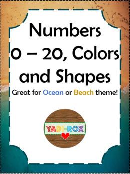 Ocean / Beach - NUMBERS 1 -20, COLORS, SHAPES