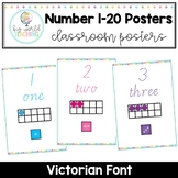 Number 1-20 Posters - Victorian Font