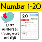 Number 1-20 Practice Writing and Number Recognition