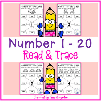 Number 1 - 20 Read & Trace