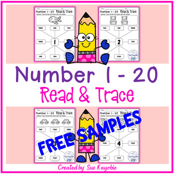 Number 1 - 20 Read & Trace Free Samples