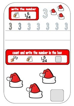 Christmas Number Fun 1-20 count and write