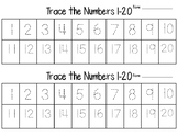 Number 1-30 tracing