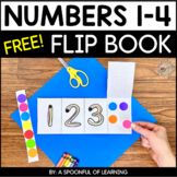 Numbers 1-4 Flip Book- FREEBIE!