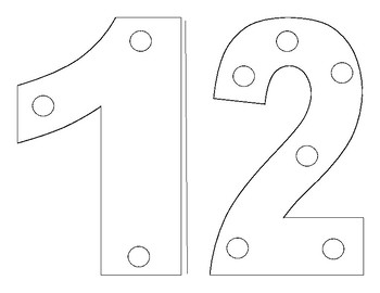 Number 1-4 Sewing Cards