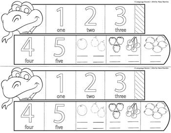 Numbers 1-5_ Snake. Freebee