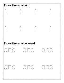 Number 1 Color and Trace Number Book