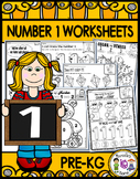 Number 1 Math Worksheets-NO PREP (PRE-KG EDITION)- Counting and Cardinality CCSS