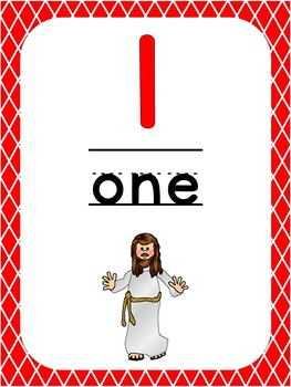 photograph about Number One Printable named Quantity 1 Printable Bible Range Poster. Preschool-Kindergarten Figures.