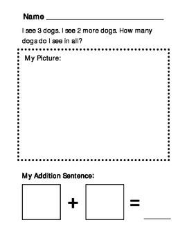Addition Story Worksheet