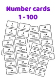 Number 1 to 100 with words Printable Black and White
