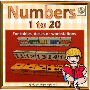 """Number 1 to 20- Bilingual """"Trifoldables"""""""
