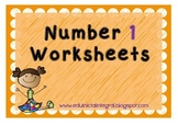 Number 1 worksheets