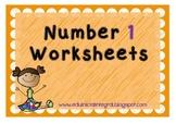 Number 1 worksheets