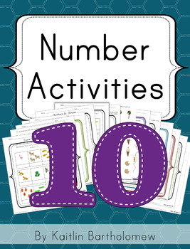 Number 10 Activities- 41 Pages! {Common Core}