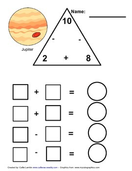 Number 10 Math Fact Family