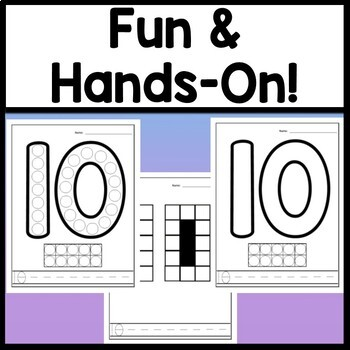 Number 10 Worksheet and Number 10 Activities! {Number of the Day Kindergarten}
