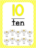 Number 10 Printable Bible Number Poster. Preschool-Kindergarten Numbers.