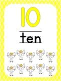 Number 10 Printable Bible Number Poster. Preschool-Kindergarten Numbers.
